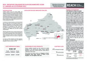 Joint Market Monitoring Initiative (JMMI) factsheet, Central African Republic – January 2021