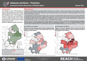 Hard to Reach Assessment in Northeast Nigeria, Protection Factsheet, February 2021