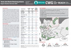 Yemen, Joint Market Monitoring Initiative (JMMI), Situation Overview, August 2020