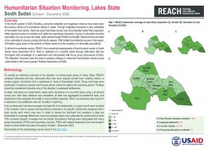 Area of Knowledge Humanitarian Situation Overview, Lakes State, October to December 2020