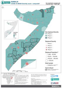 REACH Somalia Map Somalia STM Severity  WASH composite 13MAY2020 A4