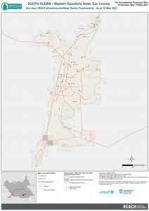 REACH SSD Map WASH Infra Ezo Town Water Points Functionality May2021