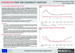 Joint Market Monitoring Initiative (JMMI) in Afghanistan: Price and seasonality snapshot - March-December 2020