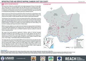 Infrastructure and service mapping factsheet, Samburu East Sub County, Kenya - December 2019