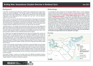 Briefing Note: Humanitarian Situation Overview in Northeast Syria - June 2021