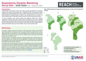 Humanitarian Situation Monitoring of hard-to-reach settlements in Warrap State, April-September 2020