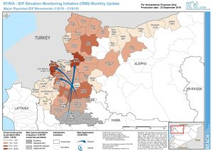 IDP Situation Monitoring Initiative (ISMI) Map, Northwest Syria – August 2019