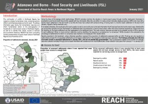 Hard to Reach Assessment in Northeast Nigeria,  Food Security and Livelihood Factsheet, January 2021