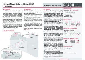 Joint Market Monitoring Initiative (JMMI) Libya, Situation Overview – January 2020