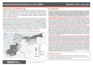 Humanitarian Situation Overview in Northwest Syria – January 2021