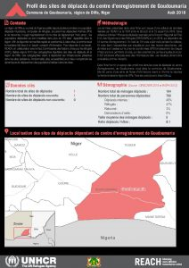 NER_Factsheet_Diffa_Profiles des sites du centre d'enregistrement de Goudoumaria_Aout 2018