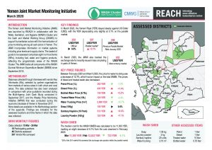 Yemen Joint Market Monitoring Initiative Situation Overview - March 2020