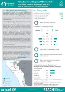 BGD_Factsheet_WASH Household Dry Season Assessment_Camp8w_May2019
