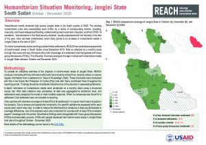 Humanitarian Situation Monitoring of hard-to-reach settlements in Jonglei State, October - December 2020