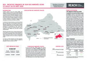 Joint Market Monitoring Initiative (JMMI) Factsheet, Central African Republic – July 2020