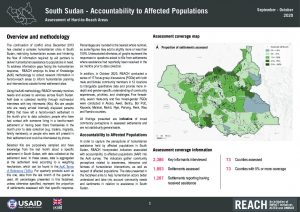 Accountability to Affected Populations, Hard-To-Reach areas in South Sudan, Q3 2020