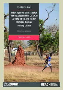 Inter-Agency Multi-Sector Needs Assement (MSNA) in Ajuong Thok and Pamir Refugee Camps report, South Sudan - October 2019