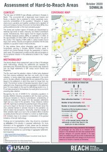 Assessment of Hard to Reach Areas in Somalia, October 2020