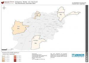 REACH AFG ESNFI Map Insecure tenure Dec2019