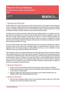 REACH_SYR_Raqqa city rapid needs assessments_ToR