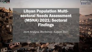 Libya 2021 Multi-Sector Needs Assessment (MSNA) Sectoral Findings Presentation