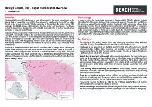 IRQ_Situation Overview_Hawiga Humanitarian Overview_September 2017