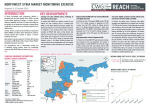 Northwest Syria Market Monitoring Situation Overview, October 2020