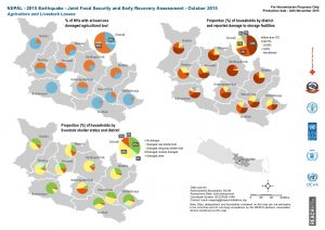 Nepal Food Security Assessment - Oct. 2015 - Agriculture and livestock losses by District