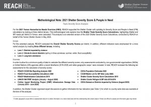 REACH_Yemen_Shelter SDR Triple Severity Score Analysis Methodology Note_November2020