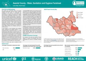 WASH Country-Wide Analysis, Greater Bahr-el Ghazal Region, South Sudan-August 2019