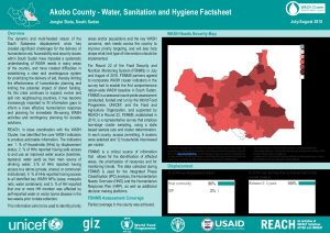 SSD_WASH Baseline Factsheets_Greater Upper Nile July-August 2018