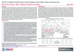 Humanitarian Situation monitoring (HSM), Tillabéri and Tahoua regions, Niger – Situation overview from January to March 2021