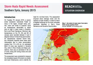 SYR_Situation Overview_Storm Huda Rapid Needs Assessment_January 2015