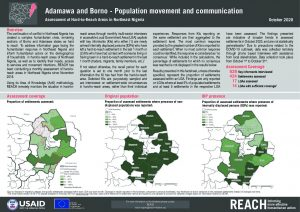 Hard-to-Reach, Population Movement and Communication, Factsheet Borno and Adamawa state, Nigeria, October 2020