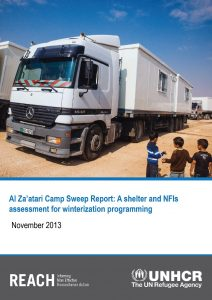 Al Za'atari Camp Sweep Report: A shelter and NFIs assessment for winterization programming