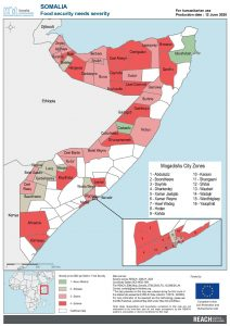 REACH Somalia Map Somalia STM DSA3 Food Security Severity 12 June 2020
