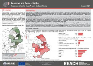 Hard to Reach Assessment in Northeast Nigeria, Shelter Factsheet, January 2021