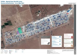 Menbij East Old Camp Infrastructure Map A0 - May 2021