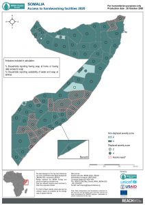 Somalia JMCNA 2020 Handwashing severity score October 2020