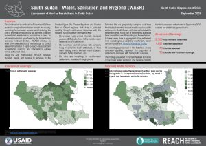 Assessment of Hard to Reach Areas: WASH, September 2020