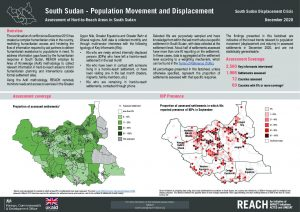 Population Movement Factsheet Assessment of Hard-to-Reach Areas, South Sudan, December 2020