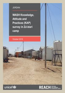 JOR_Report_Zaatari WASH KAP Survey_October 2018