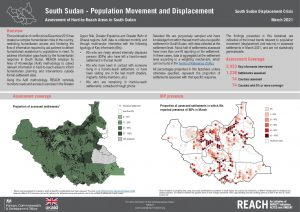 Population Movement Factsheet, Assessment of Hard to Reach Areas, South Sudan, March 2021