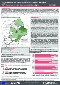 Hard to Reach Assessment in Northeast Nigeria, COVID-19 Factsheet, March 2021