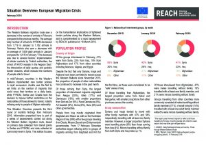 SRB_Situation Overview_European Migration Monitoring_February 2016