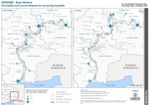 UKR_Map_East Ukraine_Hospitals_Network_18OCT2017_A4
