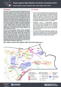 SSD_Brief_Greater Kapoeta Cattle Migration and Cholera Transmission_March 2018