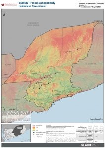 REACH YEM MAP Hadramawt HVA FloodSusceptibility 16APR2020 A4 V2