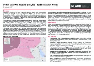 IRQ_Situation Overview_West Anbar Humanitarian Overview_September 2017