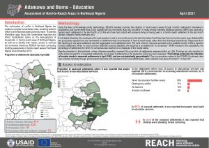 Hard-to-Reach Assessment in Northeast Nigeria: Education factsheet - April 2021